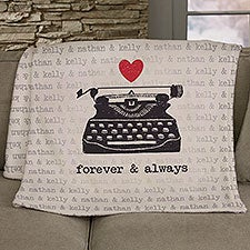 Love Notes Personalized Couple Blankets - 25215