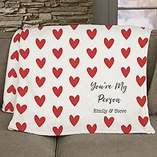 Cupid Love Personalized Couple Blankets - 25216
