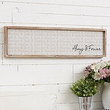Couples Repeating Name Personalized Barnwood Frame Wall Art - 25240