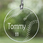 Personalized Ornament and Suncatcher with Sports design - 2532