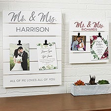 Wedding Photo & Invitation Display Personalized Wooden Shiplap Signs - 25366