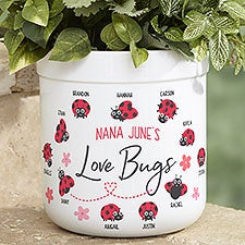 Love Bugs Personalized Outdoor Flower Pot - 25392