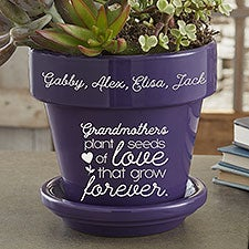Seeds of Love Personalized Grandma Flower Pots - 25396