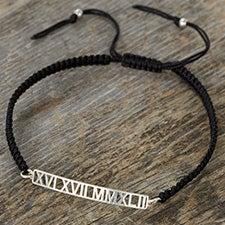 Roman Numerals Personalized Special Date Bracelet for Men - 25401D