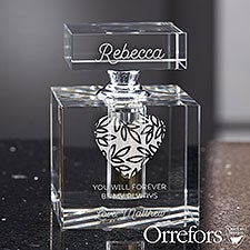 Romantic Message Engraved Perfume Bottle by Orrefors - 25437