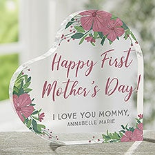 First Mother's Day Personalized Printed Heart Keepsake - 25506