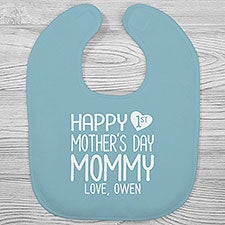 Personalized Baby Bibs - Happy First Mother's Day - 25575