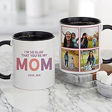So Glad You're Our Mom Personalized Coffee Mugs - 25614