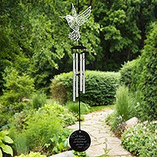 First Friend Personalized Hummingbird Wind Chimes for Mom - 25641