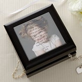 Personalized Women's Photo Jewelry Box with Poem - 2566