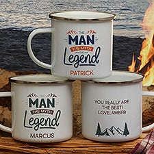 Personalized Camping Mugs - The Man, The Myth, The Legend - 25721