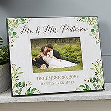 Personalized Wedding Picture Frame - Laurels Of Love - 25833