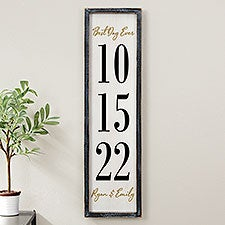 The Big Day Personalized Barnwood Frame Wall Art - 25848
