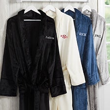 Personalized Luxury Fleece Robes For Him - 25873