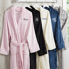 Personalized Luxury Fleece Bath Robes - 25874