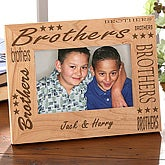 Personalized Brothers Wood Picture Frame - 2590