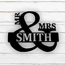 Mr. & Mrs. Personalized Steel Metal Sign - 25907