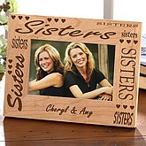 Personalized Wood Picture Frame for Sisters - 2591