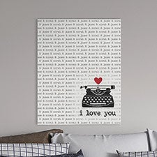 Love Notes Personalized Canvas Tile Boards - 25919