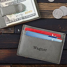 Personalized Money Clip Wallet - Monogram, Name, Initial - 25936