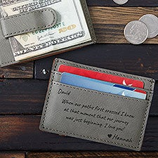 Romantic Message Personalized Money Clip Wallet - 25937