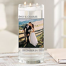 Picture Perfect Personalized Wedding Photo Vase - 26026