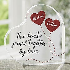 Two Hearts, One Love Printed Heart Keepsake - 26030
