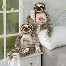 I Love You Slow Much Personalized Sloth Stuffed Animal - 26055