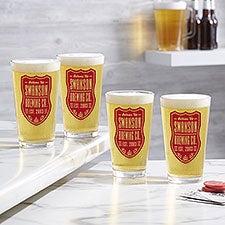 Beer Label Personalized Printed Beer Glasses - 26056
