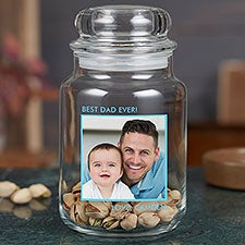 Personalized Photo Treat Jar for Dad - 26062