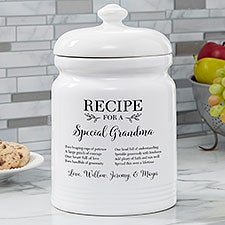 Recipe For a Special Grandma Personalized Cookie Jar - 26178