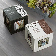 Carved In Love Personalized Photo Cubes - 26231