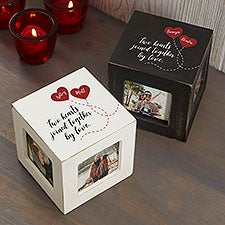 Two Hearts, One Love Personalized Photo Cubes - 26236