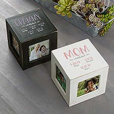Mom Established Personalized Photo Cubes - 26237