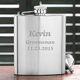 Personalized Stainless Steel Pocket Flask - Wedding Party Design - 2631