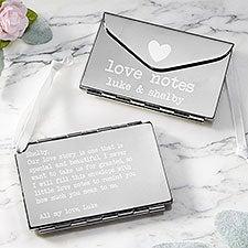 Love Notes Custom Engraved Silver Envelope Keepsake Gift - 26371