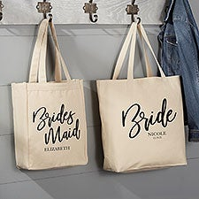 Classic Elegance Personalized Bridal Party Tote Bags - 26375