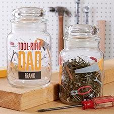Toolrific Dad Personalized Glass Treat Jar - 26379