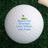 Personalized Golf Ball Set - Above Par Design  - 2644