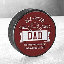 All-Star Dad Personalized Official Hockey Puck - 26452