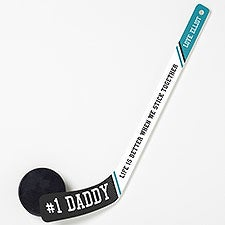 Father's Day Personalized Plastic Mini Hockey Stick - 26453