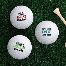 Best Dad Ever Personalized Golf Balls - Set of 12 - 26462