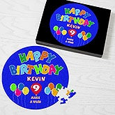 Personalized Kids Birthday Puzzle - Happy Birthday Balloon Design - 2650