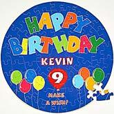 Personalized Kids Birthday Puzzle - Happy Birthday Balloon Design - 2650