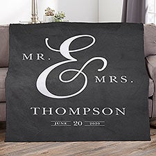 Moody Chic Personalized Wedding Blankets - 26507