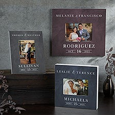 Moody Chic Personalized Wedding Picture Frame - 26508