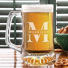 Lavish Last Name 25oz Engraved Beer Mug - 26516