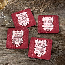 Beer Label Personalized Coasters - 26527