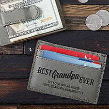 Best Grandpa Ever Personalized Money Clip Wallet - 26544