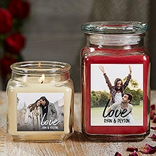 Love Photo Personalized Scented Glass Candle Jars - 26562